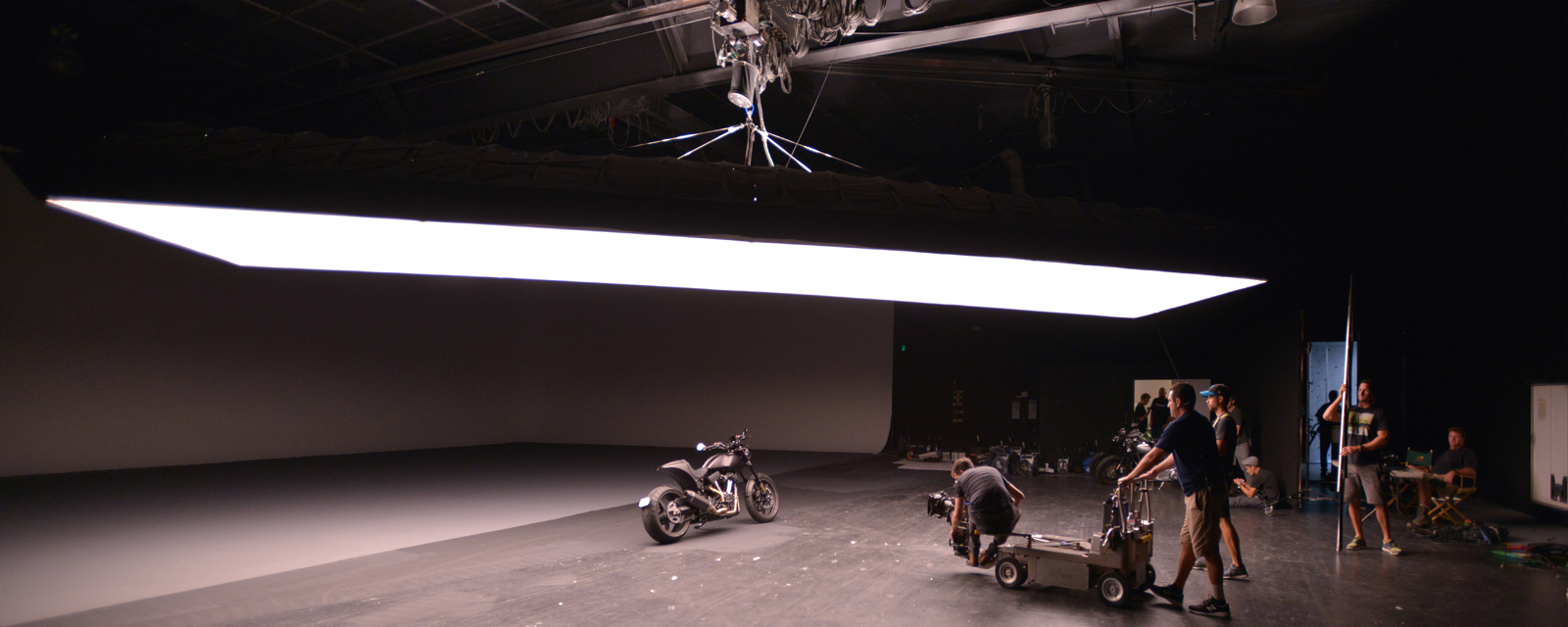 Commercial for Arch Motorcycle, keanu reeves, studio lighting, los angeles, DTLA, geronimo creek